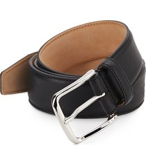 saks fifth avenue made in italy men's leather belt - black - size 40