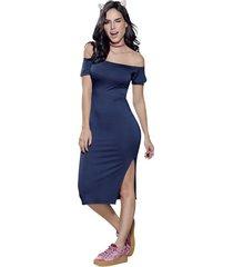 vestido largo azul atypical