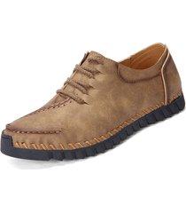 scarpe casual in pelle traspirante alla moda da uomo