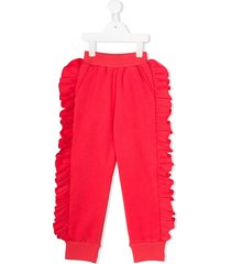 noon by noor mini lavender frill trimmed track pants - pink