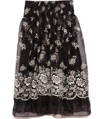 drop pocket skirt in black