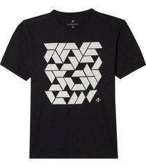 camiseta dudalina manga curta malha quadrados diferenciados masculina (cinza mescla escuro, xgg)
