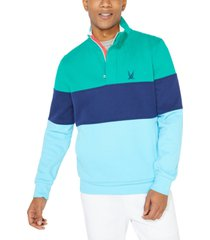 nautica men's colorblocked quarter-zip jacket, created for macy's