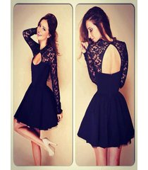 sexy high neck black tulle homecoming cocktail/party/prom dress/evening dress