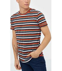 solid jaiden ss stripe t-shirt t-shirts & linnen flame