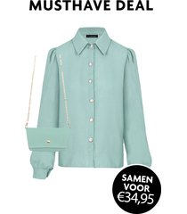 musthave deal blouse + mini bag mint