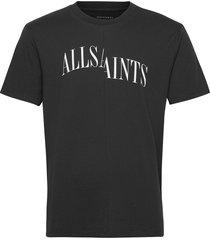 dropout ss crew t-shirts short-sleeved svart allsaints