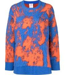 li-ning tie-dye print jumper - blue