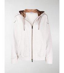 brunello cucinelli chain detail hoodie