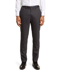 men's ted baker london beeztro flat front pants, size 34 - grey