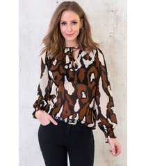 military blouse cognac