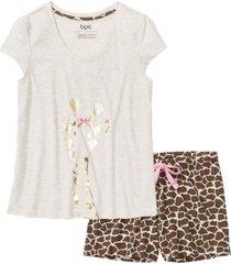 pigiama estivo con stampa lucida (beige) - bpc bonprix collection