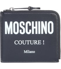 moschino square wallet with logo