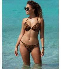 roar instinct underwire bandless halter bikini top