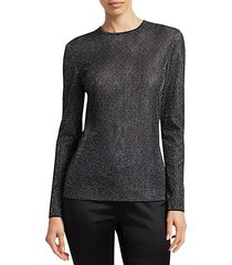 diamond sparkle knit long sleeve top