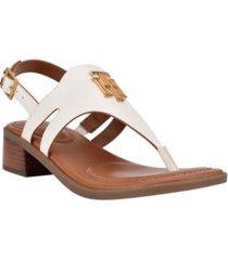 tommy hilfiger women's ezma thong sandals women's shoes