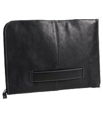 jos. a. bank leather zippered portfolio case clearance
