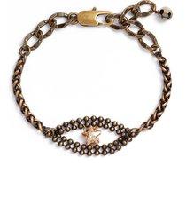 cynthia desser star crystal eye bracelet in brass/gold at nordstrom