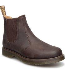 2976 black smooth stövletter chelsea boot brun dr. martens