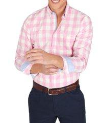 camisa casual cuadros rosado arrow