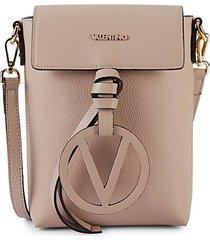 salma pebbled leather phone crossbody bag