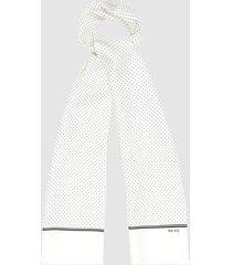 reiss neptune - silk polka dot scarf in white, mens