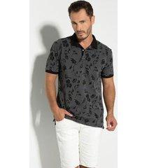 camisa polo seeder piquet binado masculina
