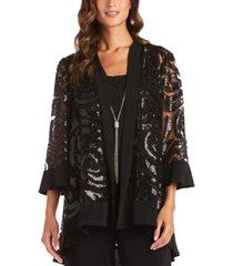 r & m richards necklace jacket & blouse