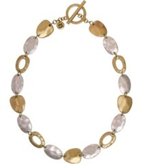 the sak hammered collar toggle necklace