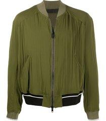 haider ackermann slouchy bomber jacket - green