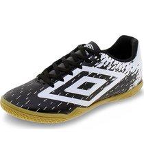 chuteira unissex footwear acid umbro - of2097 preto/branco 40
