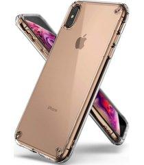 estuche protecto ringke fusion iphone xs max - transparente