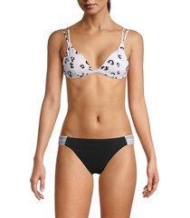 leopard tie bikini top