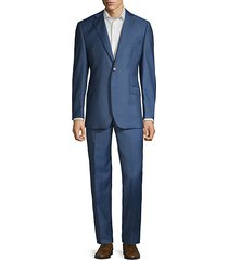 textured wool & silk suit