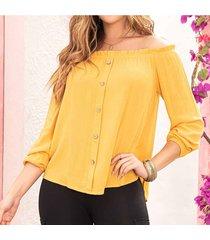 blusa hari amarillo para mujer croydon