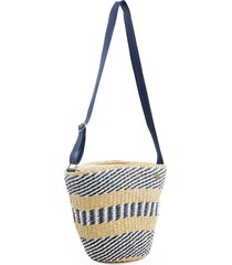 rip curl surf shack straw shoulder bag - beige