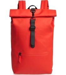 men's rains waterproof rolltop backpack - red