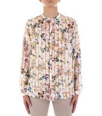 overhemd lange mouw bicolore f3777-gelsomino