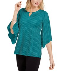 jm collection embellished flared-sleeve top, created for macy's