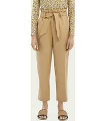 scotch & soda paperbag linen trousers