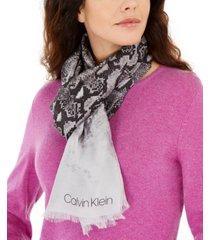 calvin klein ombre snake-print scarf