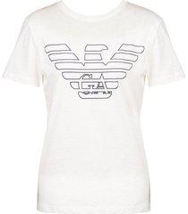 emporio armani dames logo t-shirt - wit