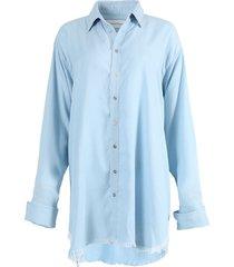 light blue over-sized shirt