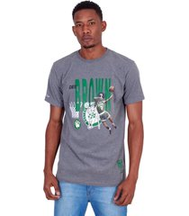 camiseta mitchell & ness estampada all star boston celtics dee brown cinza - cinza - masculino - dafiti