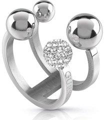 anillo guess pompom /ubr78015-56 - plateado