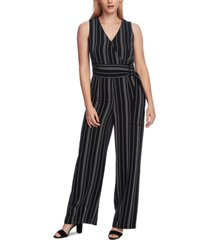 vince camuto sleeveless striped jumpsuit