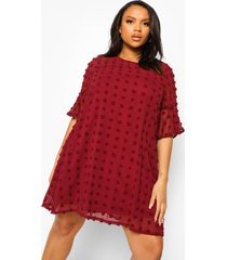 plus oversized chiffon jurk, berry