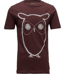 alder big owl tee - gots/vegan t-shirts short-sleeved brun knowledge cotton apparel