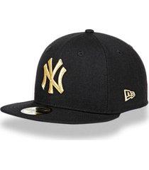bonã© new era 5950 new york yankees aba reta preto - preto - masculino - dafiti