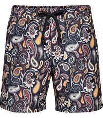 roy paisley swim shorts badshorts blå wood wood